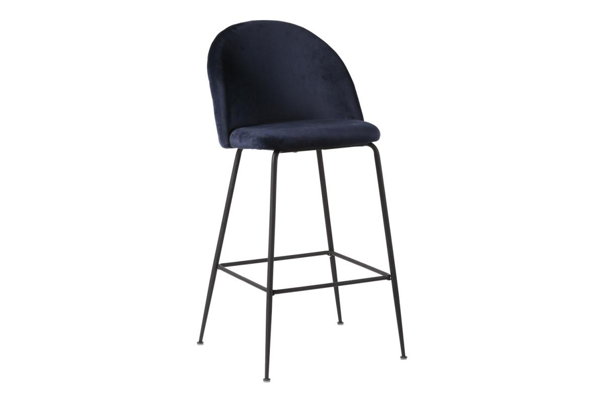 Stílusos bárszék Kristopher - kék / fekete