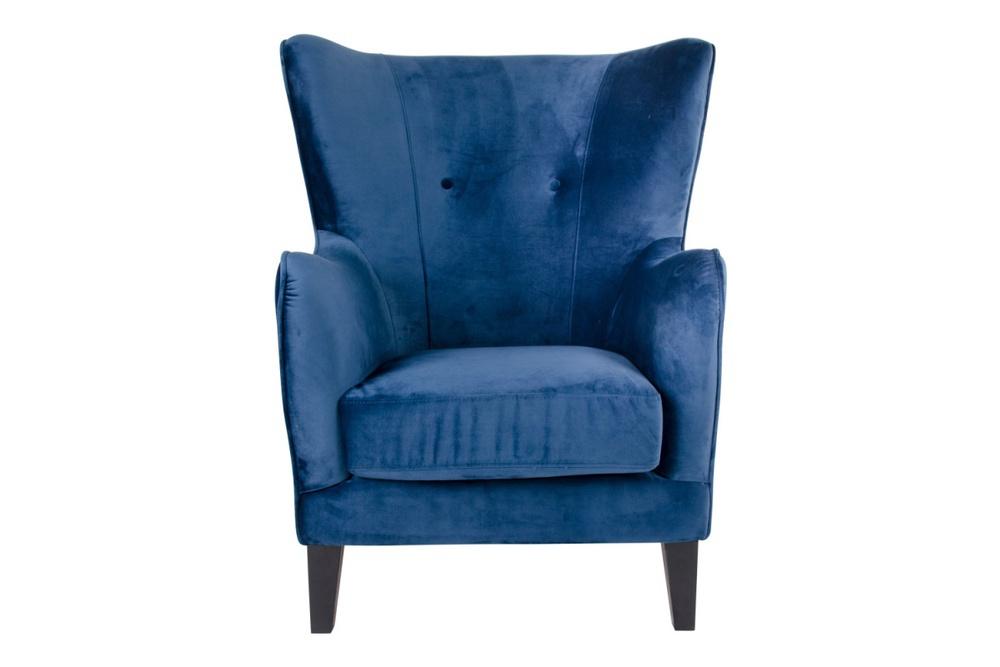 Stílusos fotel Julian, kék bársony