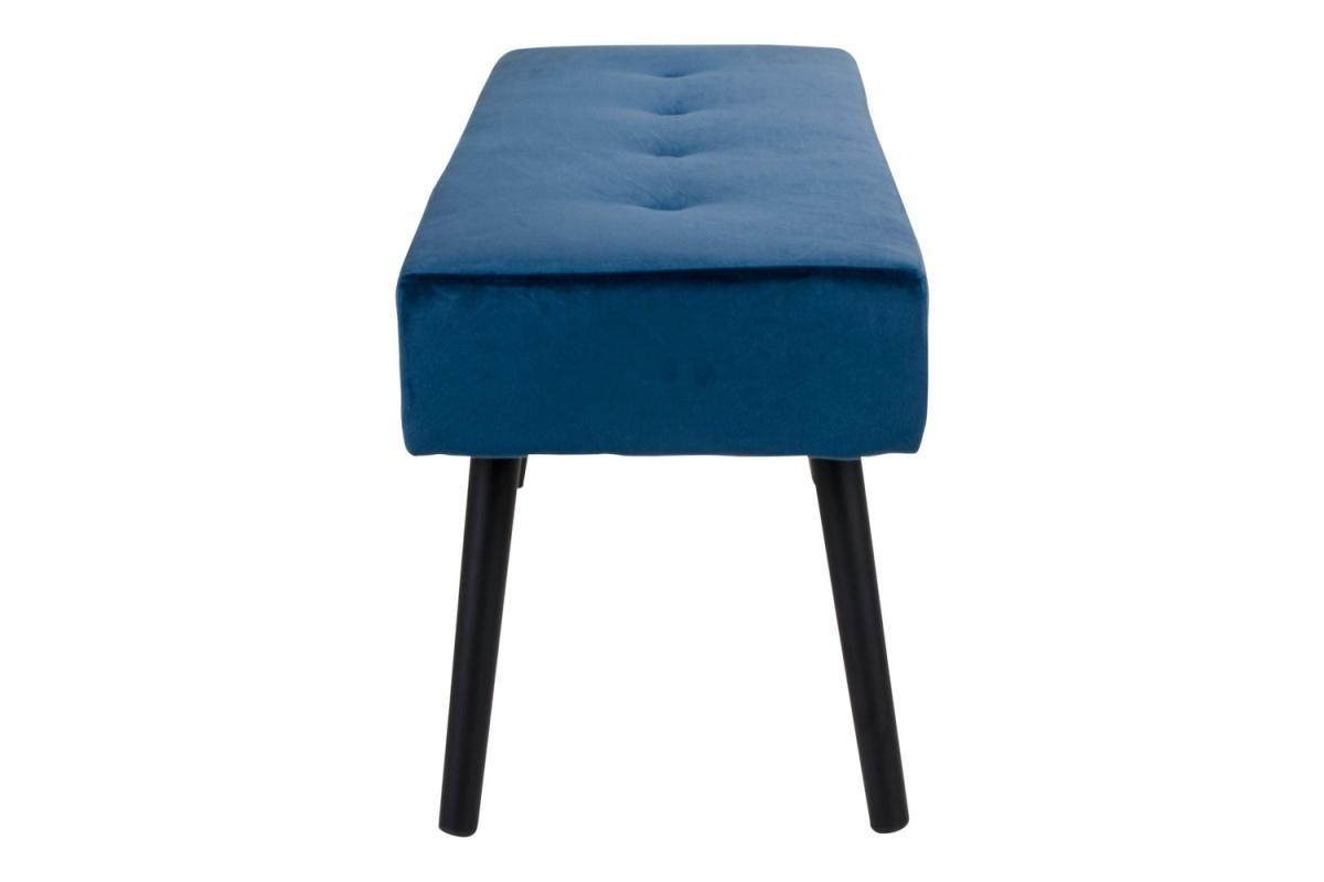 Stílusos ülőpad Elaina, sötét kék bársony
