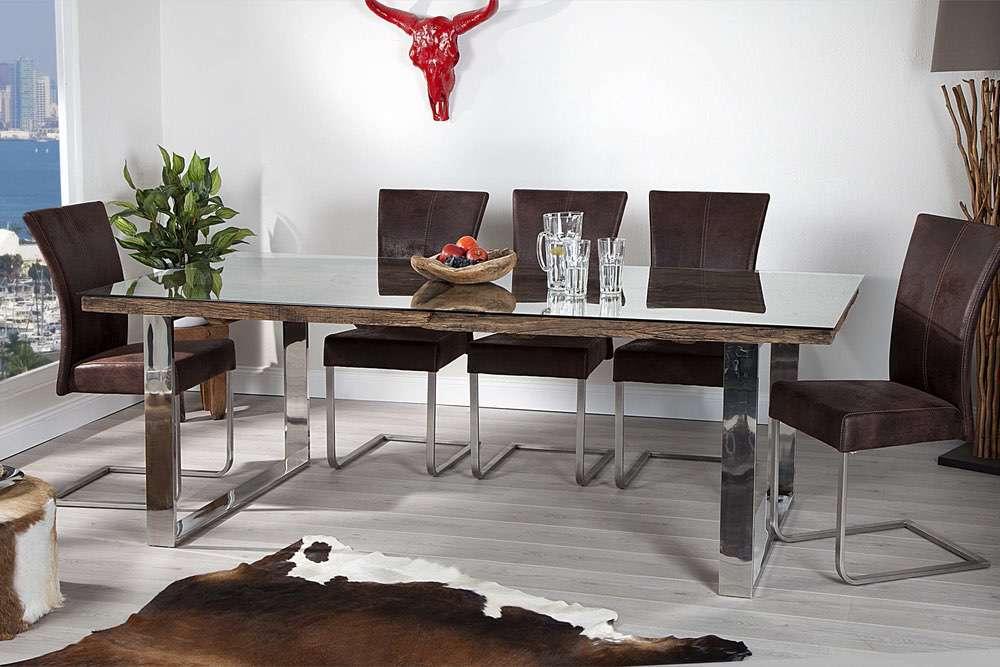 Luxus étkezőasztal masszívból Shark 180 cm