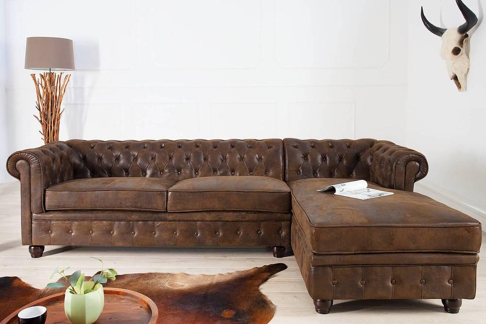 Sarok ülőgarnitúra Chesterfield Vintage jobbos