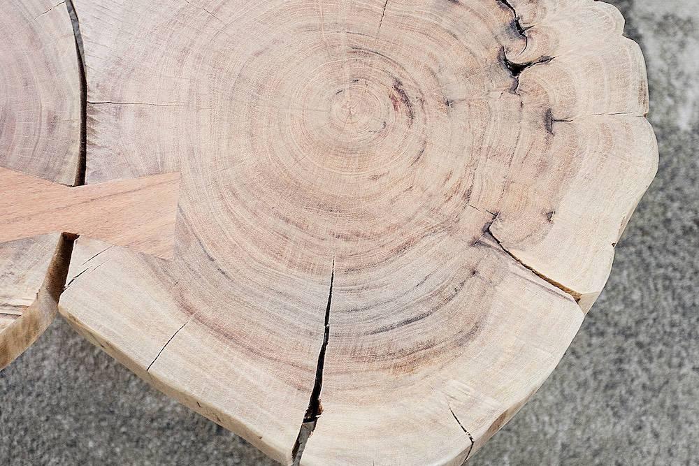 Dohányzóasztal masszív fából Island II 115cm