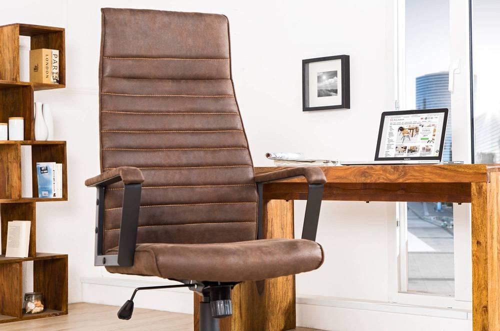 Irodai szék Roma Vintage barna 125cm