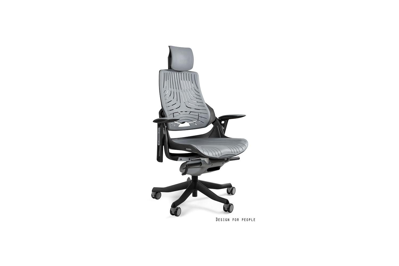 Irodai szék Wanda szürke elasztomer fekete alappal