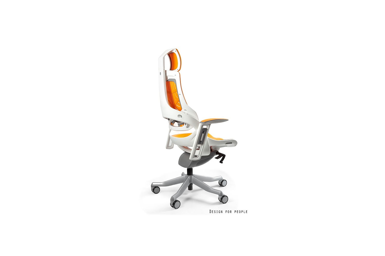 Irodai szék Wanda - szürke elasztomer fehér alappal
