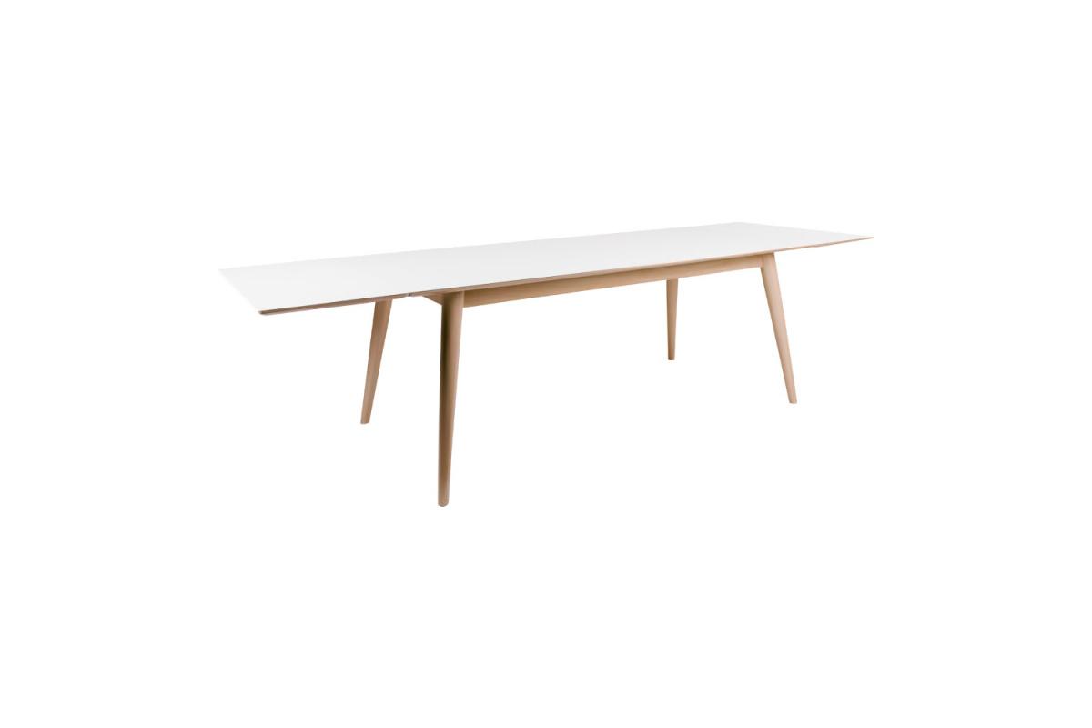 Széthúzható asztal Ronald 195-285, natúr / fehér