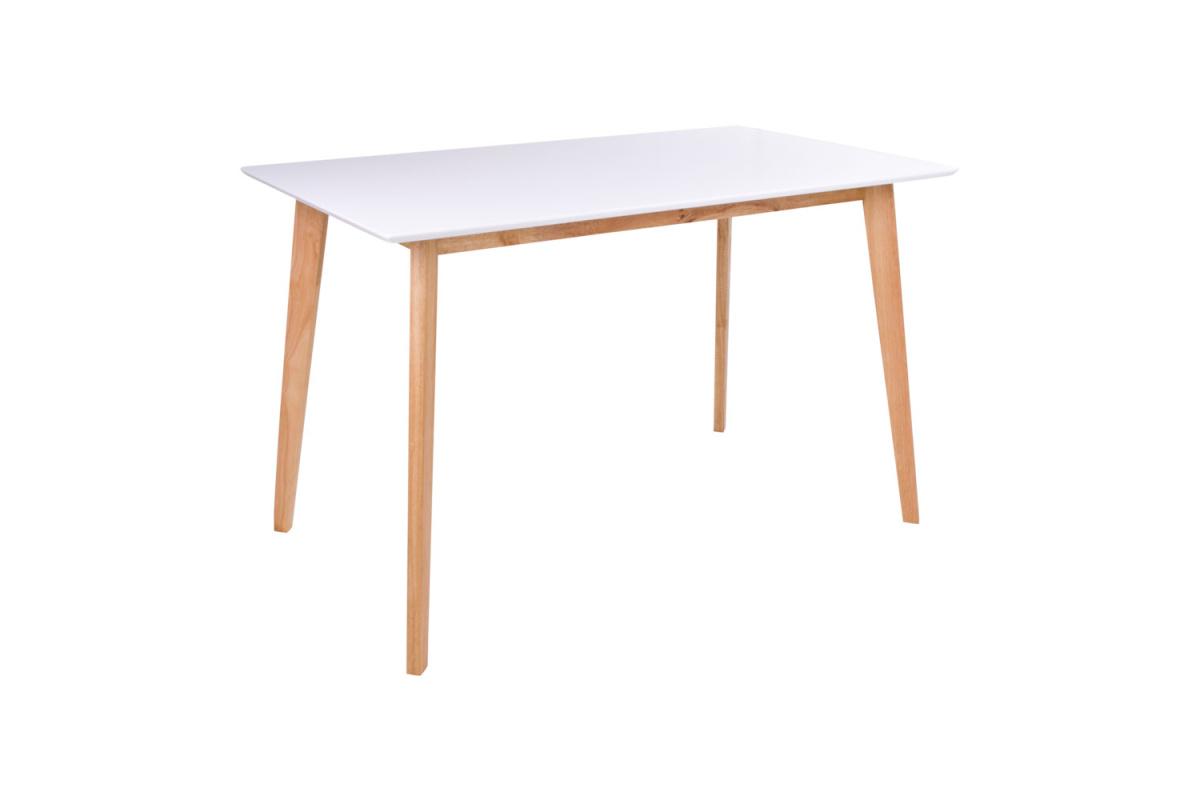 Stílusos étkezőasztal Carmen, natúr / fehér