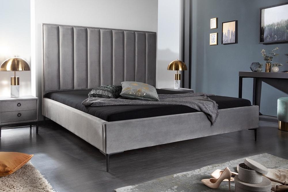Design ágy Gallia 180 x 200 cm ezüstszürke