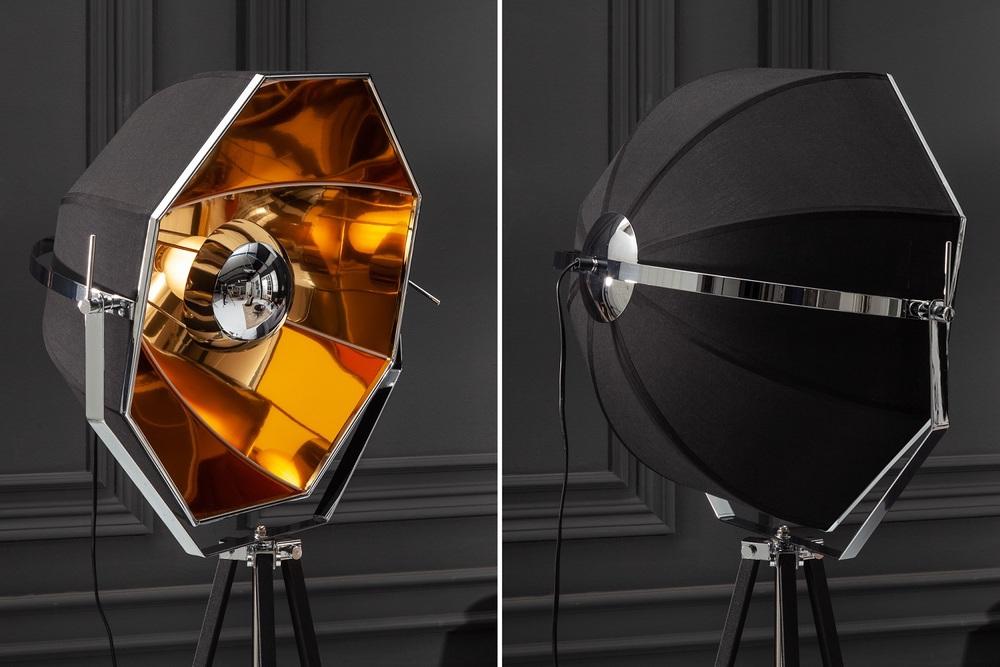 Design állólámpa Damon fekete-arany