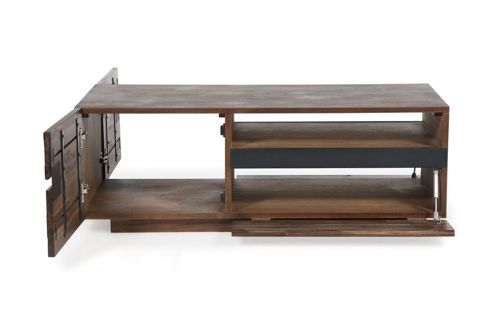 Design dohányzóasztal Saxon II 115 cm akác