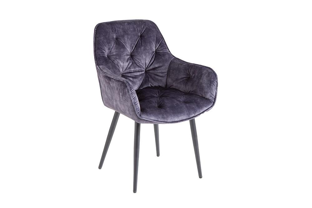 Design szék Garold szürke bársony