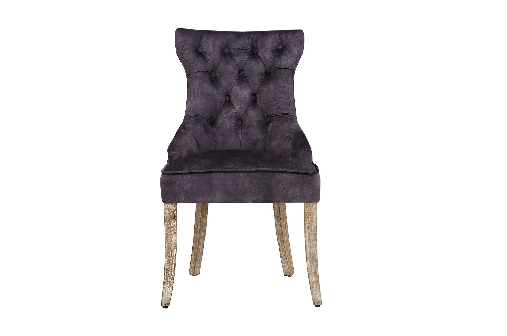 Design szék Queen bársony királyi szürke