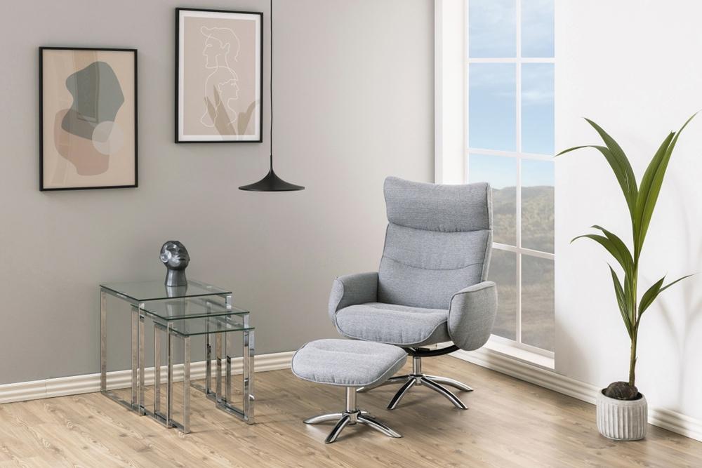 Stílusos relax fotel Naoise - világos szürke - II.osztály SK