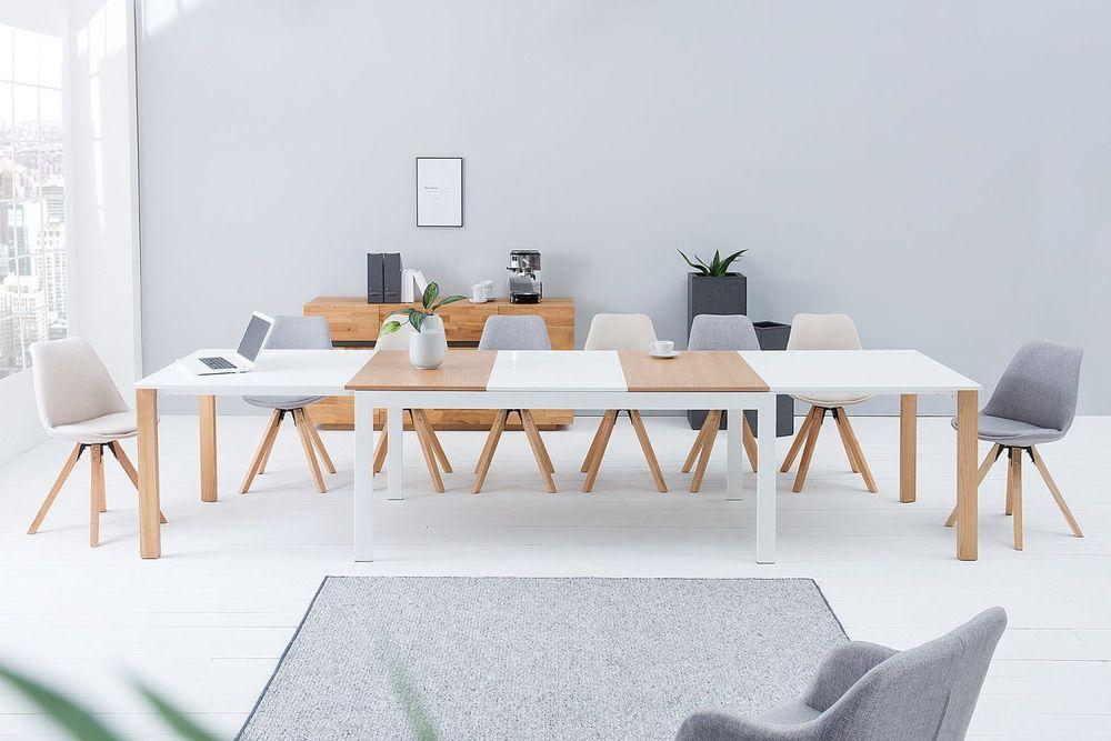 Étkezőasztal Gama 180-420 cm / fehér tölgy