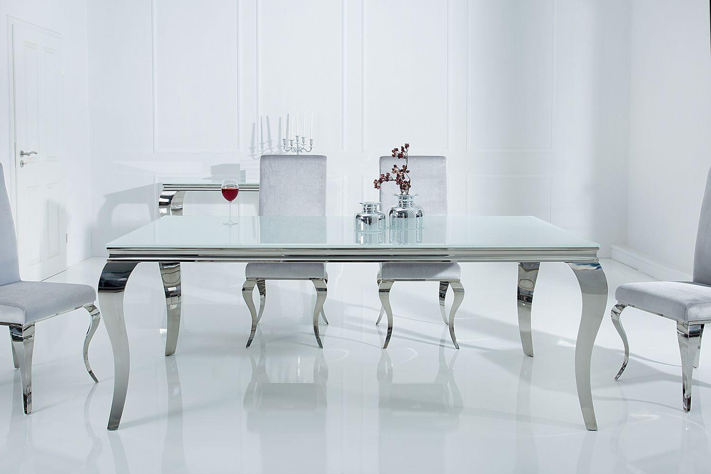 Étkezőasztal Rococo 180 cm fehér / ezüst