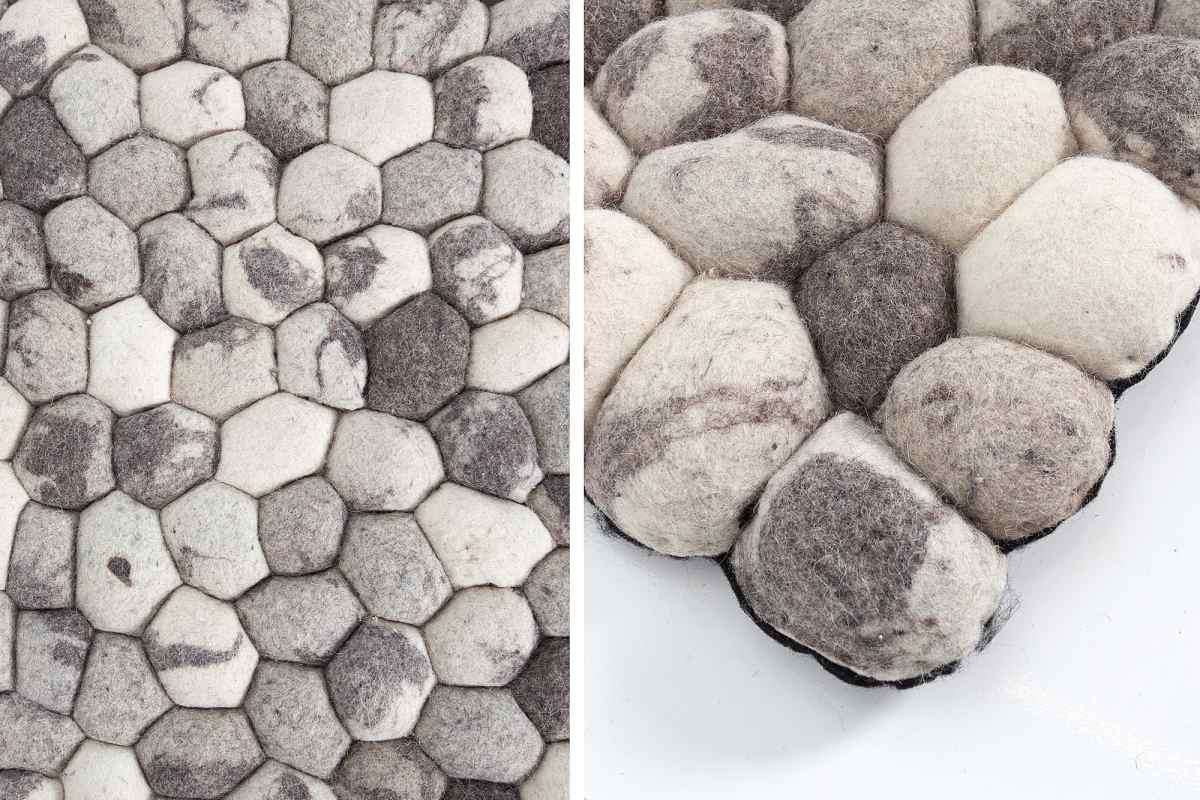 Stílusos szőnyeg Jayda 200x120 szürke filc