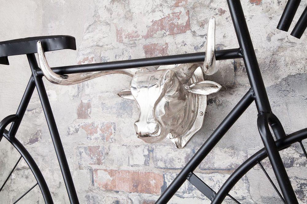 Fali dekoráció Bull 47 cm / ezüst
