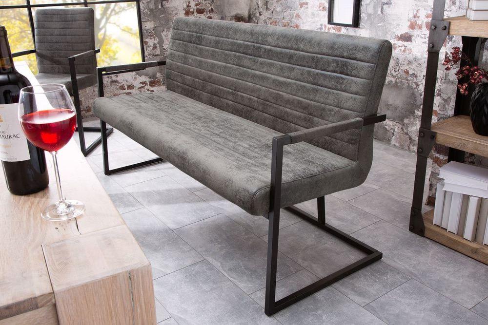 Stílusos ülőpad Maximiliano vintage szürke