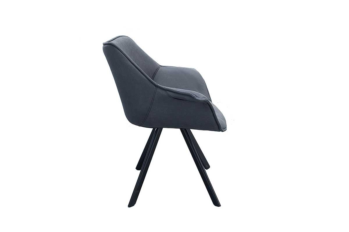 Stílusos szék Brantley antik sötét szürke