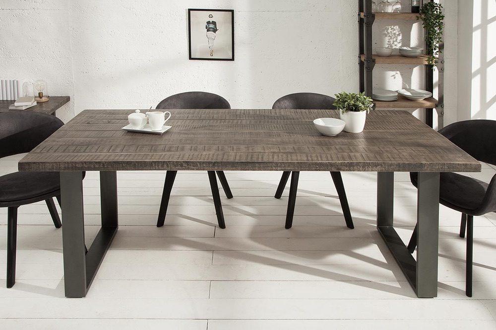 Étkezőasztal Thunder, 160 cm, szürke mangó