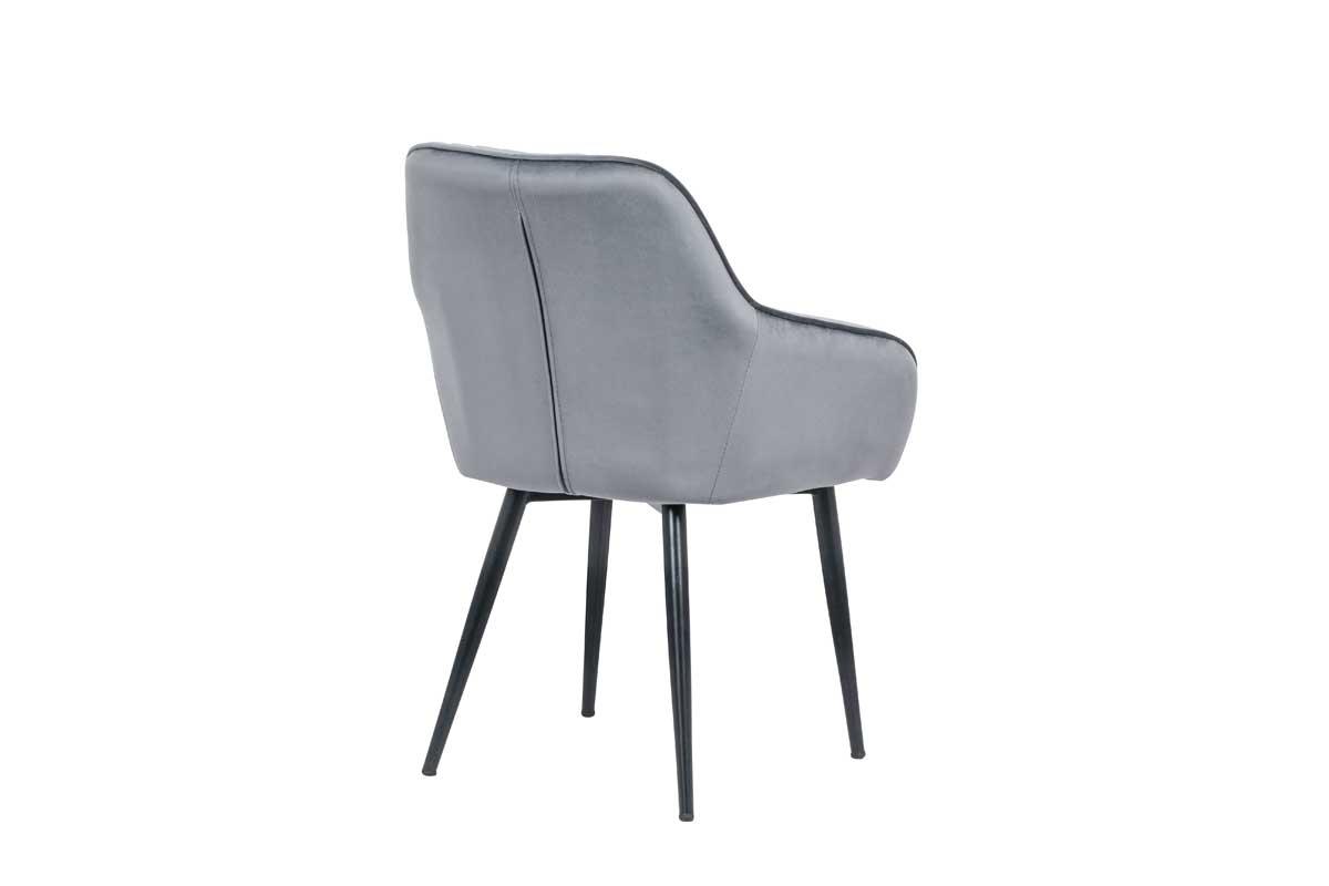 Stílusos szék Esmeralda szürke - raktáron 1db SK