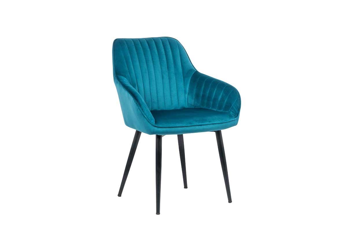 Stílusos szék Esmeralda türkizkék - raktáron SK