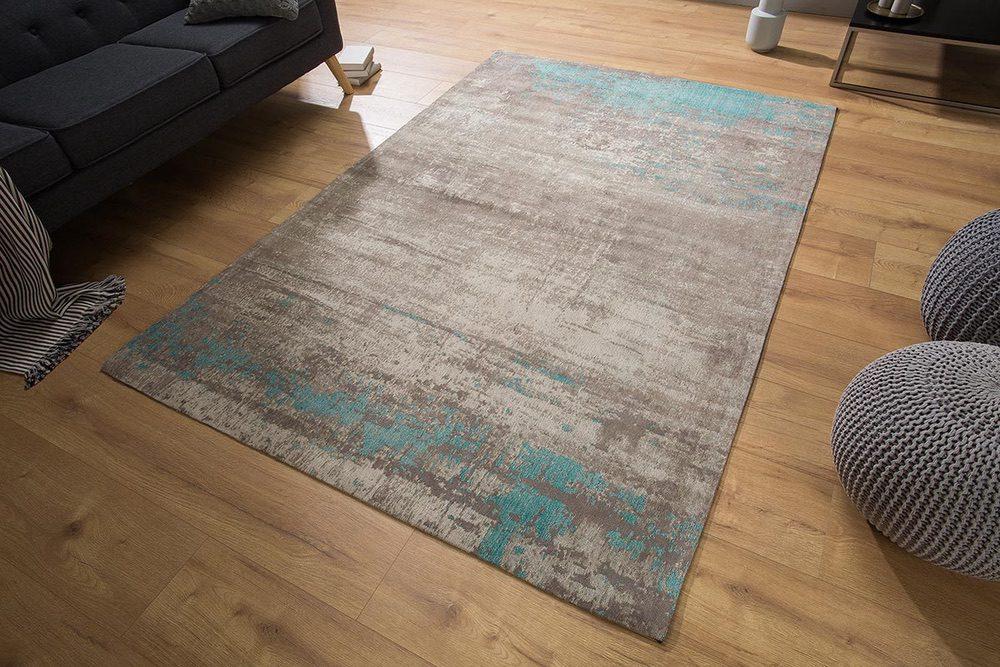Stílusos szőnyeg Rowan 240x160 világos szürke, kék