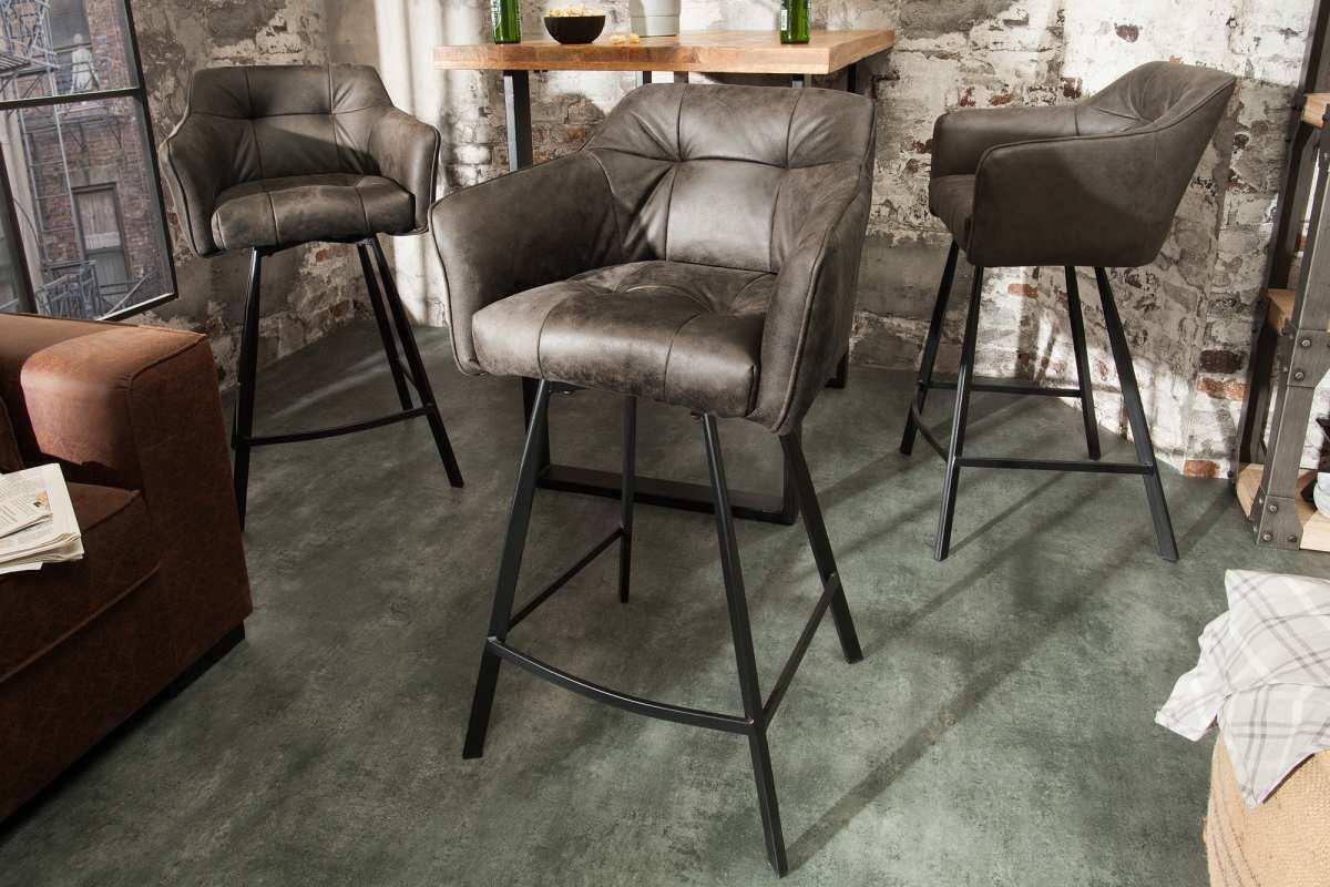 Stílusos bár szék Giuliana - taupe