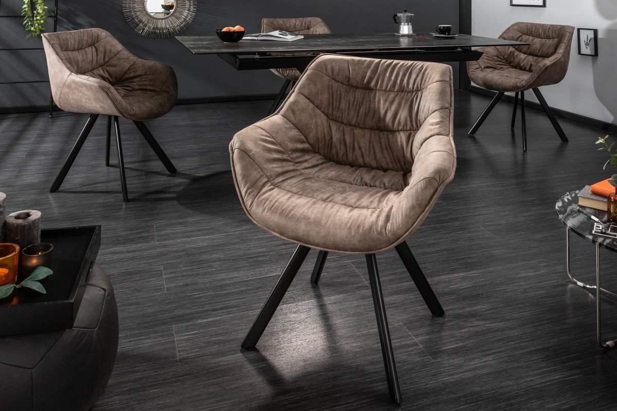 Stílusos szék Kiara szürkés barna, taupe