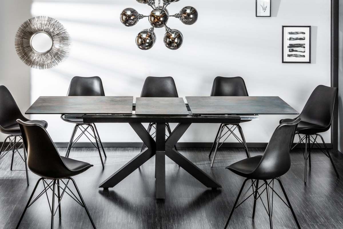 Stílusos étkezőasztal Zariah, 180-225 cm láva