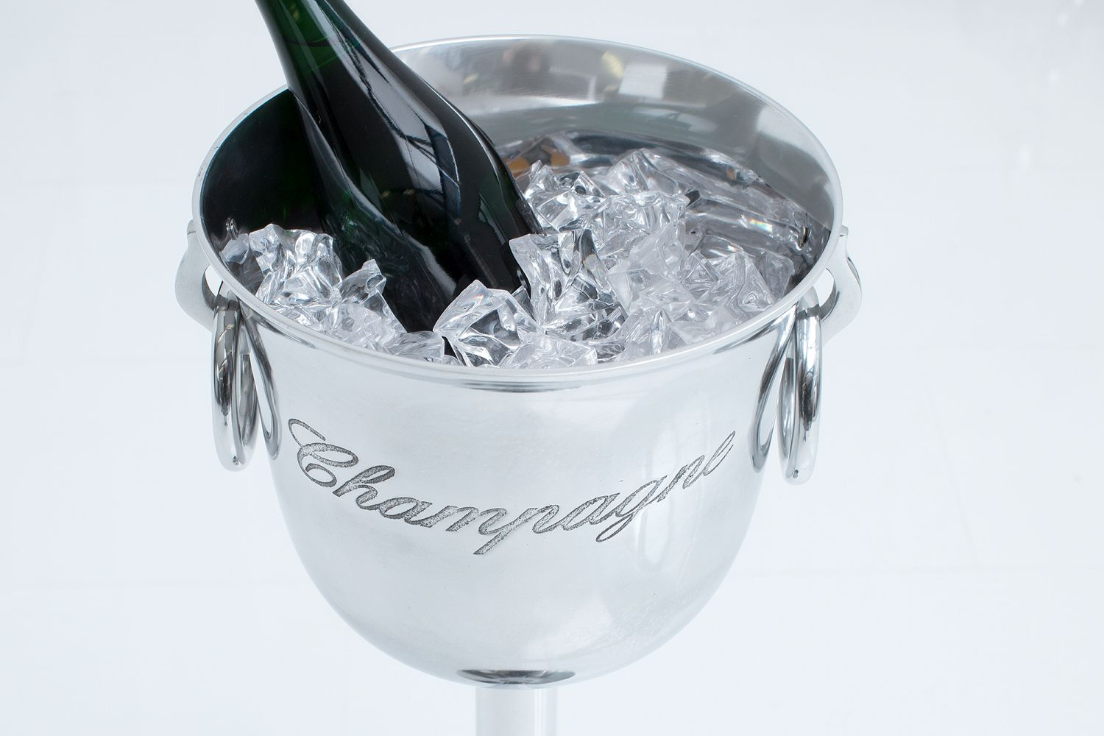 Design pezsgő hűtő Champagne 75 cm / ezüst