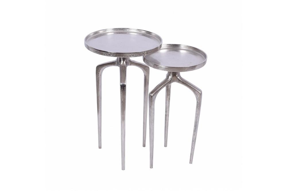 Oldalsó asztal szett 2 db Pablo ezüst