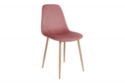 Stílusos étkezőszék Myla, rózsaszín / világos lábak