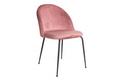Stílusos szék Ernesto, rózsaszín / fekete