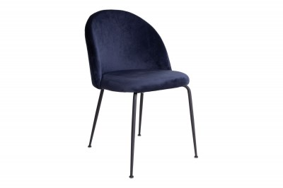 Stílusos szék Ernesto, kék / fekete