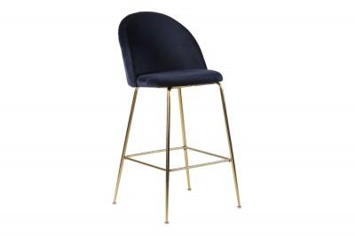 Stílusos bár szék Kristopher, kék / sárgaréz