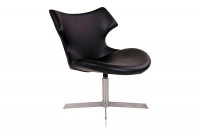 Stílusos fotel Khloe, fekete műbőr