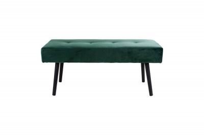 Stílusos ülőpad Elaina, zöld bársony