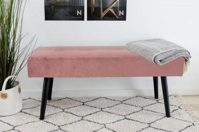 Stílusos ülőpad Elaina, rózsaszín bársony