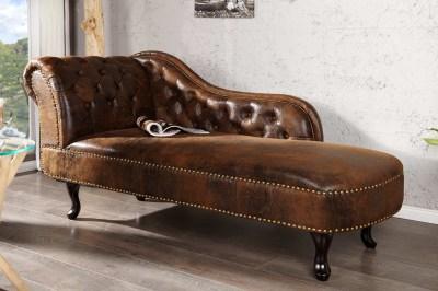 Luxus heverő Chesterfield Vintage - barna