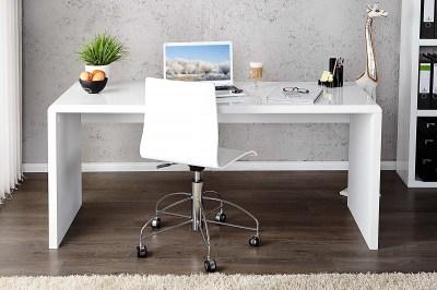 Íróasztal Barter 120cm fehér, magas fény
