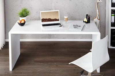 Íróasztal Barter 140cm fehér, magas fény