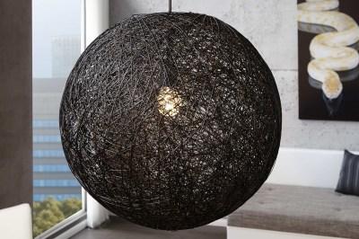 Stílusos függőlámpa Wrap fekete 60 cm