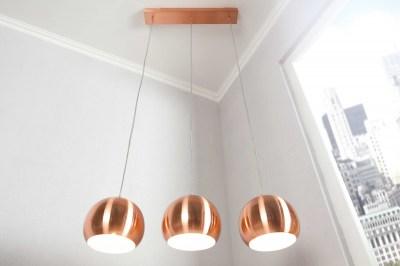 Stílusos hármas lámpa Fuzz réz