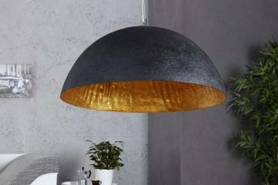 Stílusos lámpa Glimer 50 cm fekete - arany