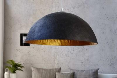 Stílusos lámpa Glimer 70 cm fekete - arany