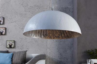 Stílusos lámpa Glimer 50 cm fehér - ezüst