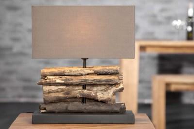 Asztali lámpa FERRE barna
