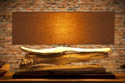 Asztali lámpa uszadékfából Lake bézs
