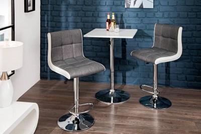 Stílusos bár szék Modern szürke, fehér